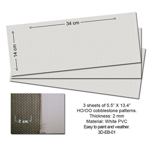 Embossed PVC Sheets (Cobblestone) 3 pcs.