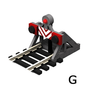 G Scale Buffer Stop w/Light (2 pcs)