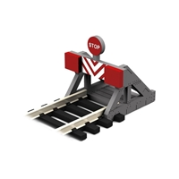OO Scale Buffer Stop w/Assorted Decals 2 pcs)