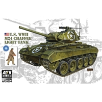 M24 Chaffee Light Tank US Army & bonus figure