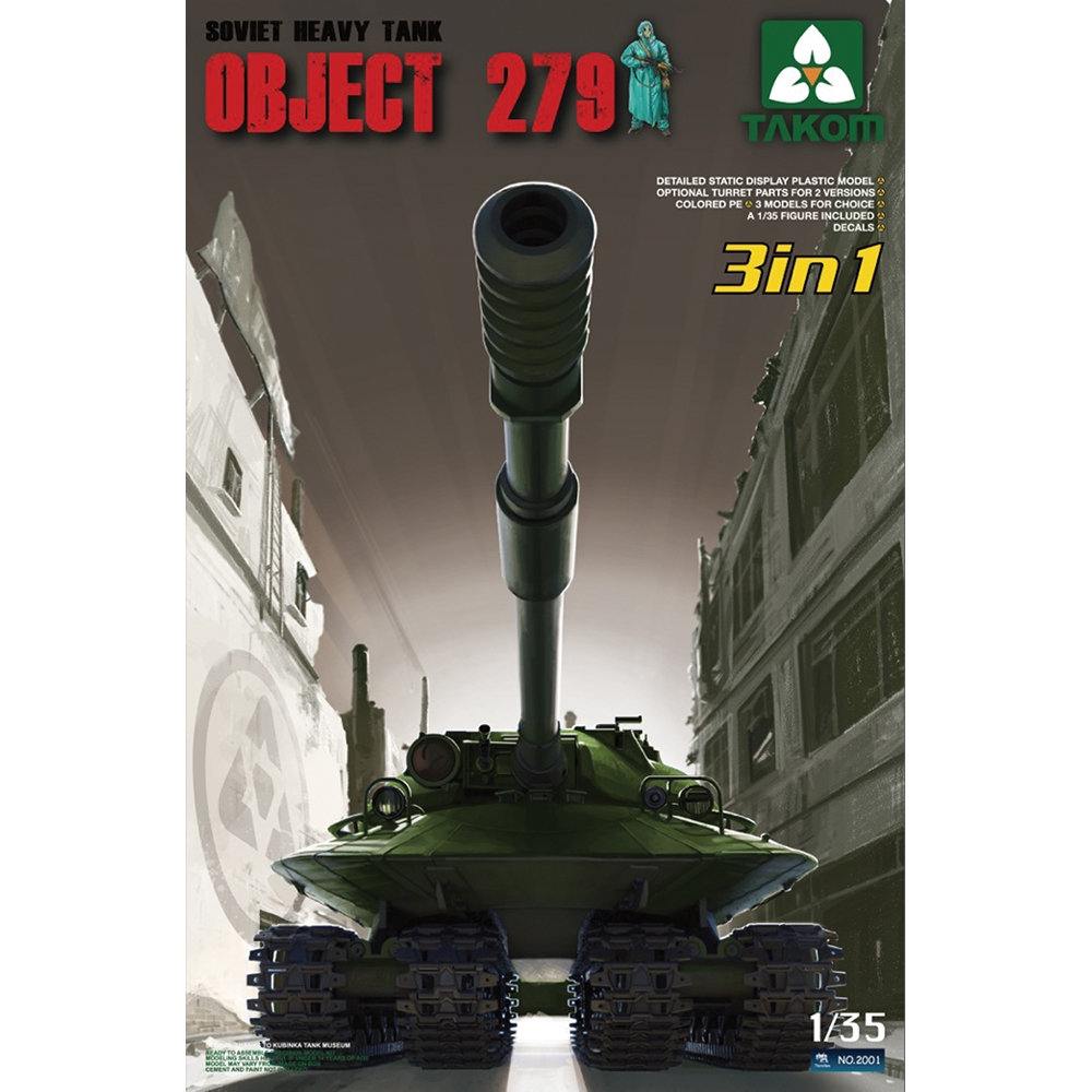 PKTAK02001 Object 279 Soviet Heavy Tank (3 in 1)