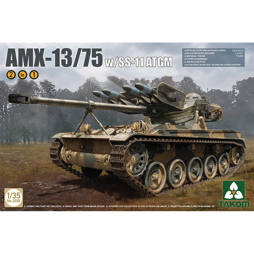 AMX-13/75 French Light Tank with SS-11 ATGM 2 in 1
