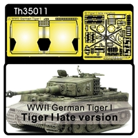 Tiger I Late Photoetch for Muffler Cover & Tool Buckles