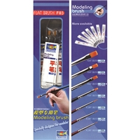 Flat Brush F03 / 5.0mm (12 pc Display Box)