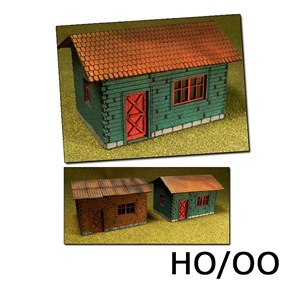 Laser-Cut Cottages Kit (2 cottages) H0/00