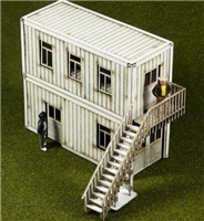 Laser-Cut Container Offices (2 containers) 00 scale