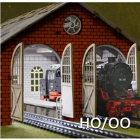 H0-00 Double Engine Loco Shed Laser-Cut Kit