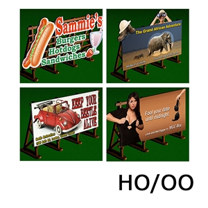 Laser-Cut Outdoor Billboards Kit No:2 (4 in a set)