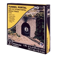 HO Cut Stone Single Tunnel Portal