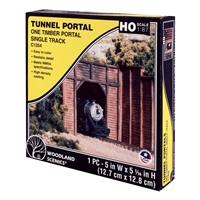 HO Timber Single Tunnel Portal