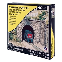 HO Random Stone Single Tunnel Portal