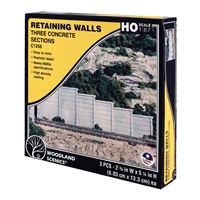 HO Concrete Retaining Wall (x3)