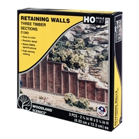 HO Timber Retaining Wall (x3)